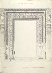 Ajanta: Hall Door, Cave I.